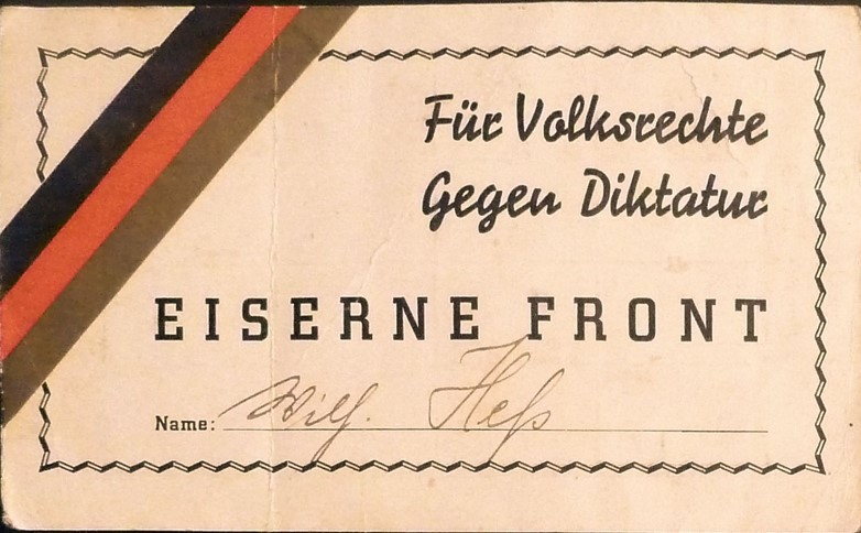 05 100 Ausweis Eiserne Front